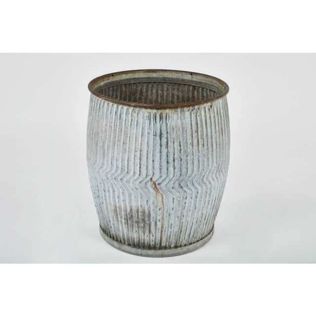 1990s English Zinc Garden Pots - a Pair For Sale In Los Angeles - Image 6 of 10