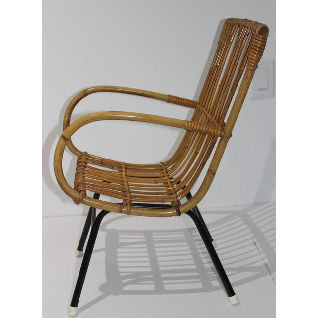 Modern Mid-Century Modern Franco Albini Style Child's Chair Bamboo and Rattan For Sale - Image 3 of 13