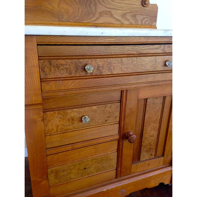 20th Century Boho chic G. Schindler & Co Marble Top Cabinet For Sale - Image 4 of 9
