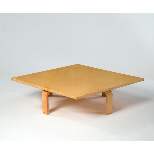 Danish Modern PK 66 laminated maple coffee table For Sale - Image 3 of 5