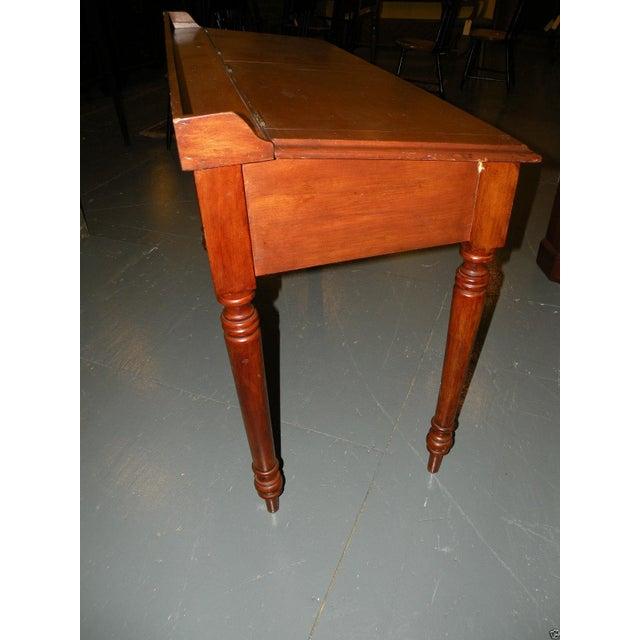 Antique Primitive Cherry Desk - Image 6 of 8
