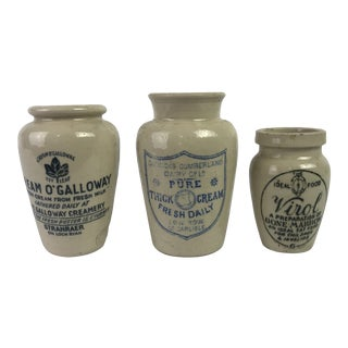 19th-C. English Stoneware Jars For Sale