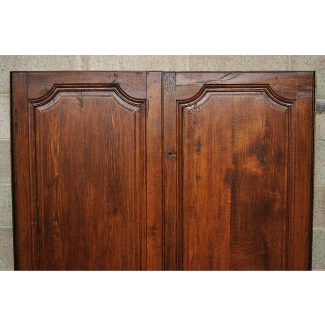 French Antique French Louis XVI Style Carved Oak Interior Double Doors - Set of 2 For Sale - Image 3 of 13