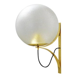 Vintage Globe Sconce by Seguso For Sale
