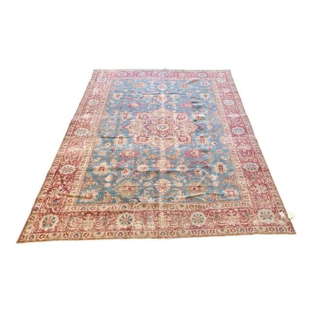Vintage Tabriz Wool Rug - 7′ × 10′1″ For Sale