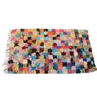 """Vintage Boucherouite Moroccan Carpet - 8'10"""" X 5'4"""""""