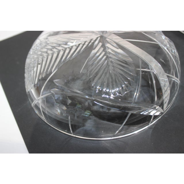 Palm Tree Lidded Box Bonbonnier in Cut Crystal For Sale - Image 9 of 11