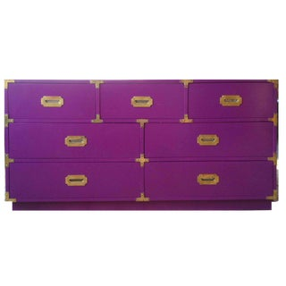 1970's Campaign Purple Chest or Sideboard For Sale