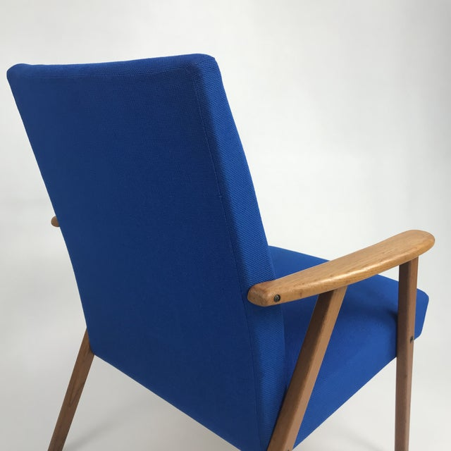 Blue Royal Blue Swedish Modern Lounge Chair For Sale - Image 8 of 13