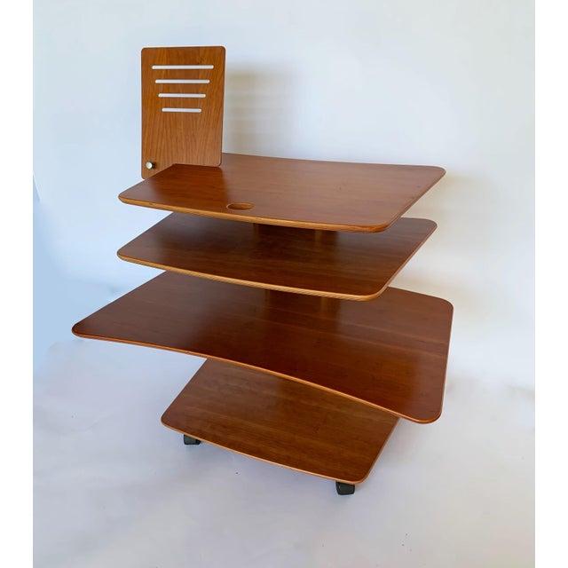 Metal Aksel Kjesgaard of Denmark Teak Mid-Century Adjustable Desk on Casters For Sale - Image 7 of 12