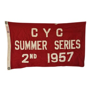 Vintage 1957 Cleveland Yacht Club Trophy Flag For Sale