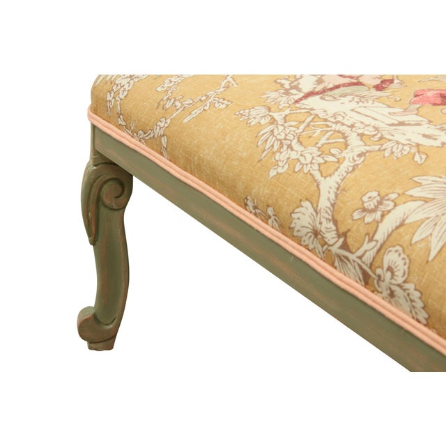 Hollywood Regency French Style Serenade Chaise Lounge For Sale - Image 3 of 8