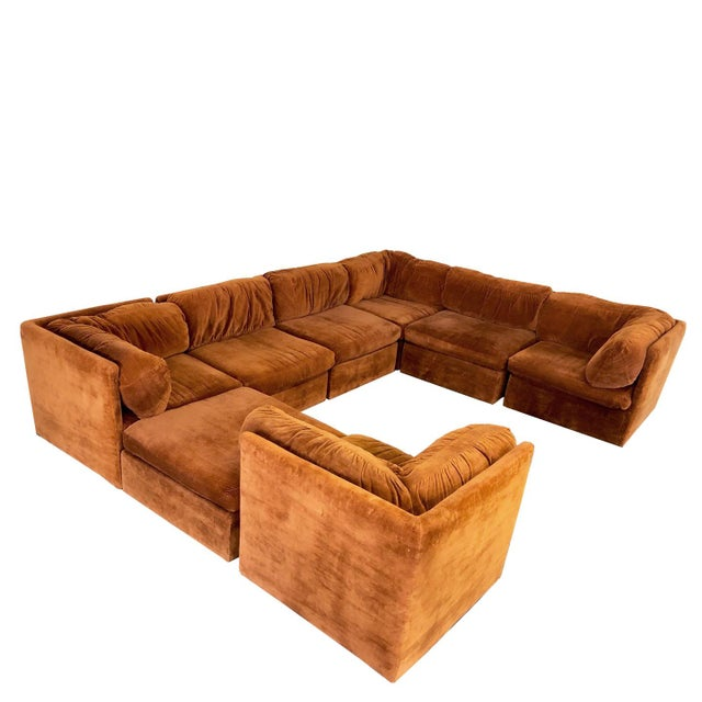 Eight Piece Modular Sofa by Milo Baughman for Thayer Coggin For Sale - Image 13 of 13