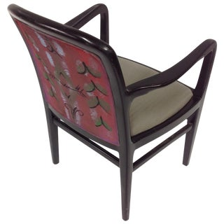 Jack Lenor Larsen Painted Textile Lounge Chair For Sale