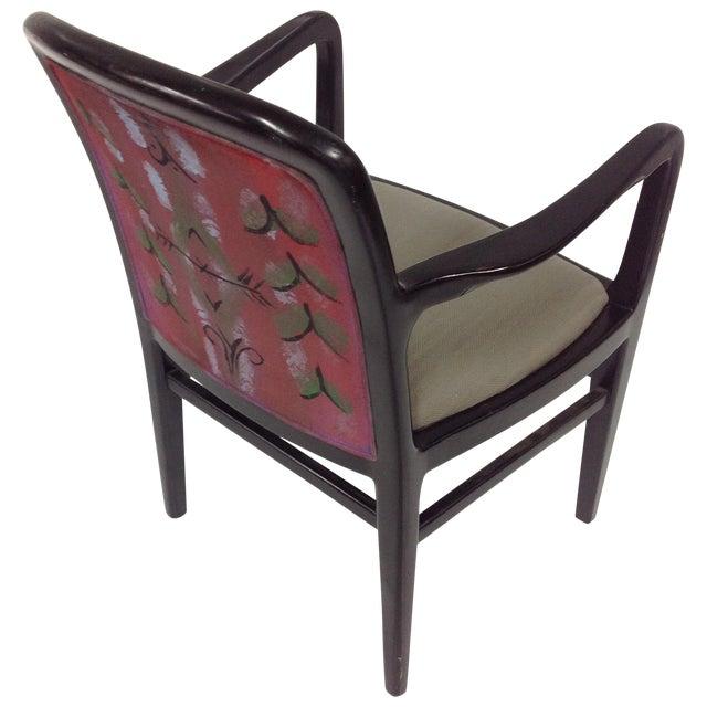 Jack Lenor Larsen Painted Textile Lounge Chair For Sale