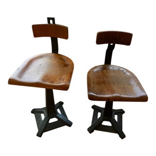Vintage Industrial Singer Sewing Chairs - Set of 2