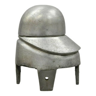 Vintage Vogue New York Aluminum Woman's Hat Block Mold Form For Sale