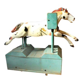 Vintage Metal Horse Arcade Ride For Sale