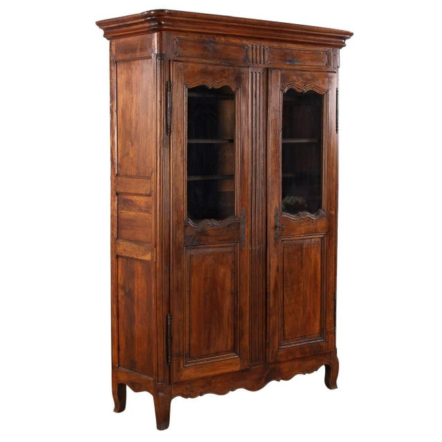 French Walnut Armoire Transition Period, 1800s - Image 1 of 10