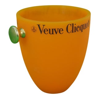 Veuve Clicquot Orange Ice Bucket For Sale