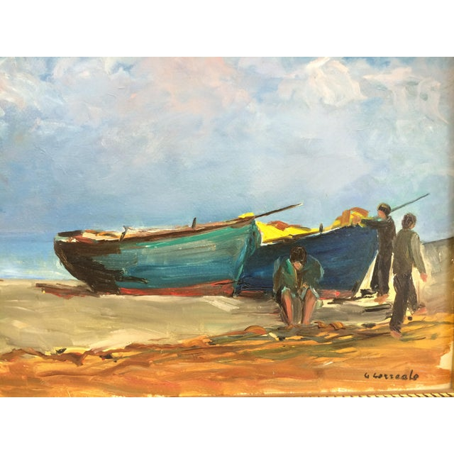 'Boats on the Beach' Oil For Sale - Image 3 of 5