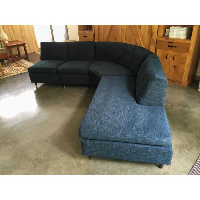 Mid Century Sectional Sofa - Image 4 of 11