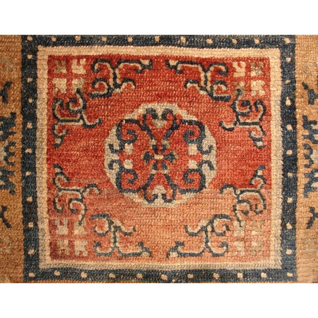 Asian Tibetan Square Meditation Rug, mid 19th century For Sale - Image 3 of 4