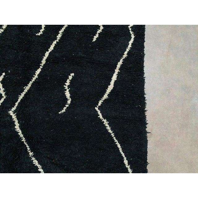 Black Vintage Black Beniourain Rug For Sale - Image 8 of 10