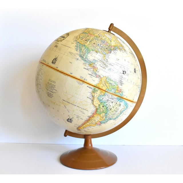 "Vintage 12"" Replogle Globemaster Topographical Relief Globe For Sale In San Francisco - Image 6 of 10"