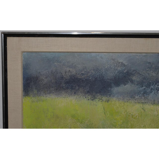 "Mid 20th Century Mid-Century Modern ""Wheatfield"" Oil Painting by Joseph Barber C.1960 For Sale - Image 5 of 11"