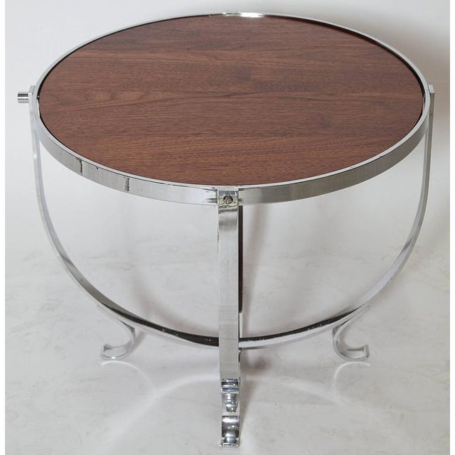 Machine Age Art Deco Streamline Cruise Liner or Pullman Car Cocktail Table For Sale - Image 4 of 11