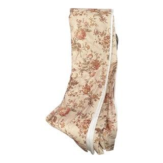 Ralph Lauren Custom Floral Linen Drapes - A Pair For Sale
