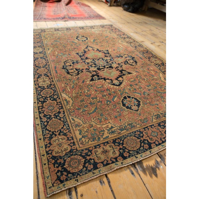 "Textile Antique Farahan Sarouk Persian Rug - 3'10"" X 6'6"" For Sale - Image 7 of 13"