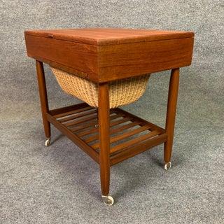 Vintage Danish Modern Teak Sewing Cart by Ejvind Johansson Preview