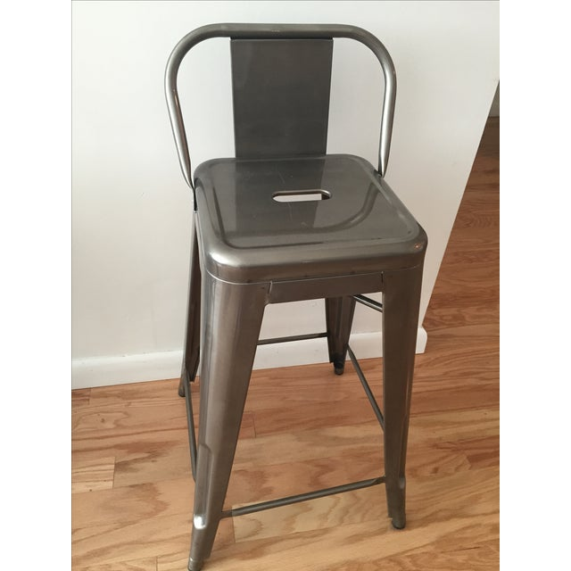 Tolix-Inspired Industry West Metal Counter Stools - Set of 3 - Image 4 of 7