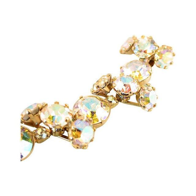 Mid-Century Modern Vogue Ab Crystal Bracelet Set, 1950s For Sale - Image 3 of 8