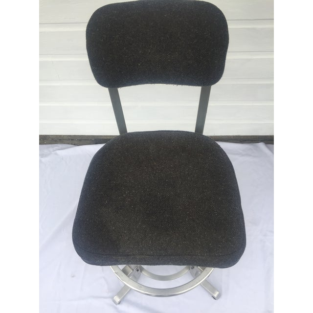 White 1960s Industrial Swivel Lab Stool For Sale - Image 8 of 10