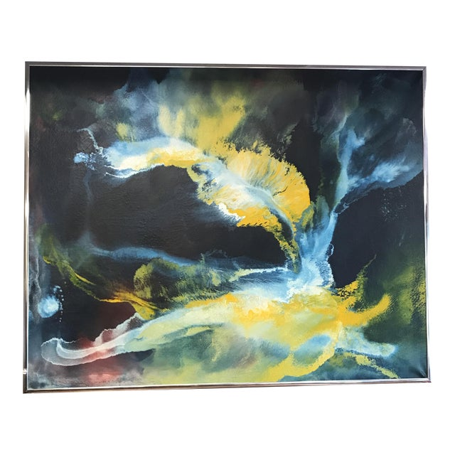 Mid-Century Abstract Expressionist Painting - Image 1 of 10
