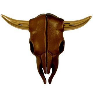 Brass and Bronze Steer Skull Door Knocker