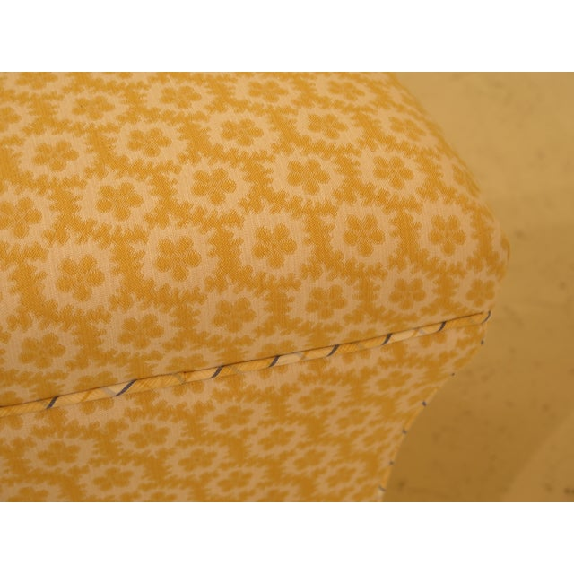 2000 - 2009 Calico Corners Custom Upholstered Ottomans - A Pair For Sale - Image 5 of 10