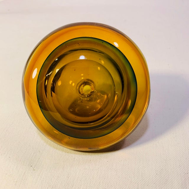 1960s Mid Century Modern Handblown Murano Paperweight Vase For Sale - Image 5 of 6