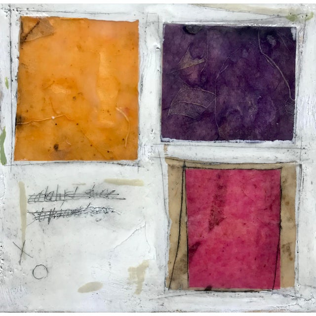"""Gina Cochran """"Necessity of Play No. 8"""" Encaustic Collage Painting For Sale In Washington DC - Image 6 of 9"""