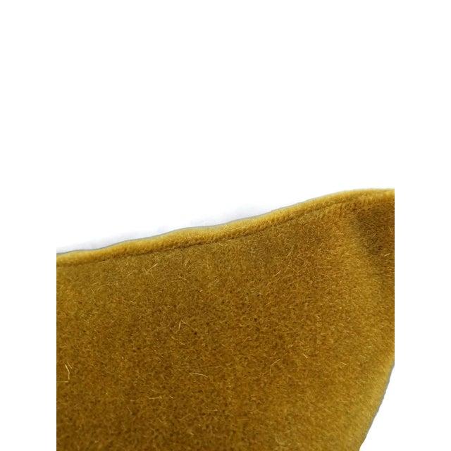 S. Harris Ankara Mohair Amber Velvet Lumbar Pillow Cover For Sale - Image 4 of 6