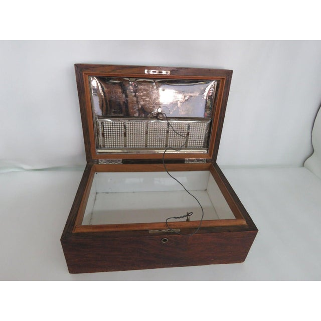 Wood Early 1900s Oak Tabletop Cigar Tobacco Humidor Chest Box For Sale - Image 7 of 11