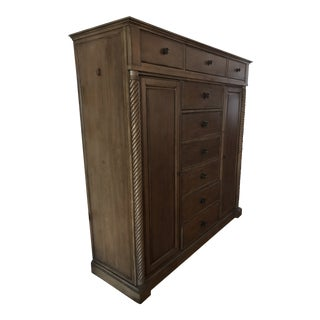 Traditional Bassett Moultrie Park Chifforobe For Sale