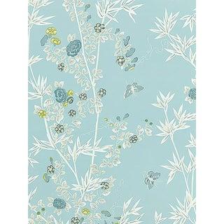 Sample, Scalamandre Jardin De Chine, Ciel Wallpaper For Sale