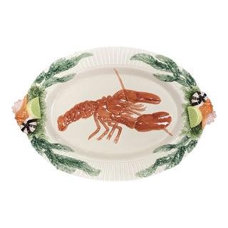 Vintage Fitz & Floyd Fish Market Lobster Platter For Sale