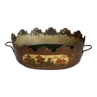 Mid 19th Century Decorative Tole Monteith For Sale
