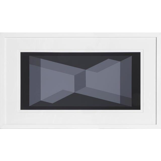 Josef Albers Josef Albers - Portfolio 1, Folder 9, Image 2 Framed Silkscreen For Sale - Image 4 of 4