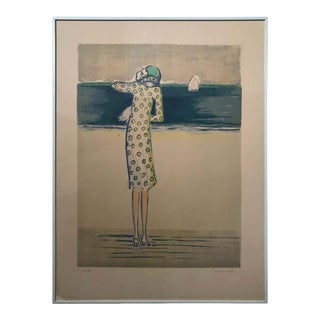 """""""At the Beach"""" Artist Proof by French Painter Jean-Pierre Cassigneul #2 For Sale"""